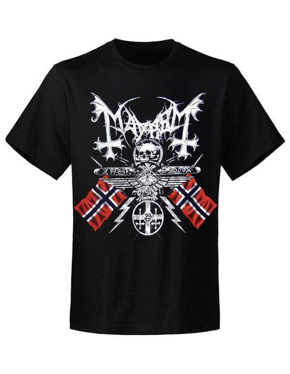 Mayhem /'25 Years Coat Of Arms/' T-Shirt Noir